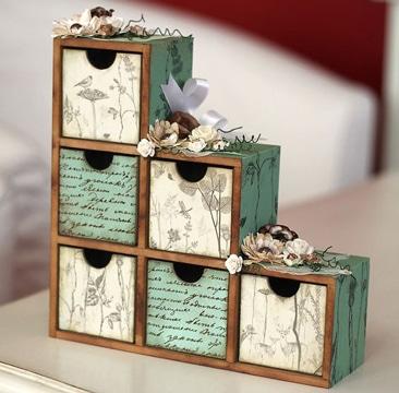 como pegar servilletas en madera para organizador