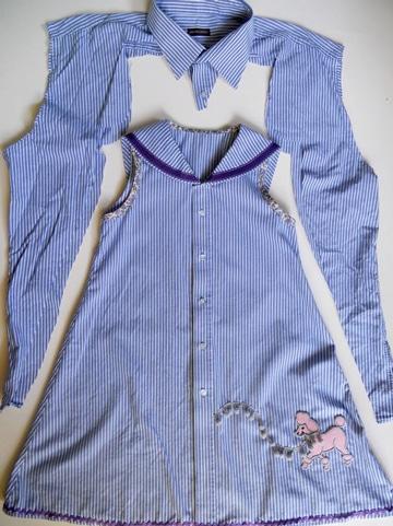 como transformar una camisa en una blusa infantil
