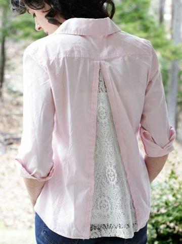como transformar una camisa en una blusa renovada