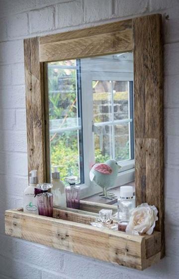 cosas con palets de madera para baño