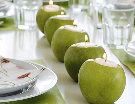 decoracion con frutas naturales para mesa