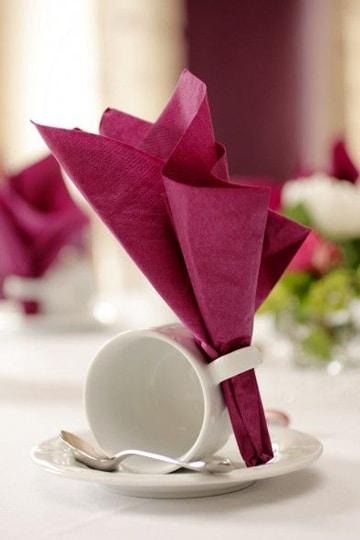 doblado de servilletas de papel faciles