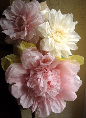 flores grandes de papel crepe faciles