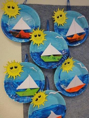 manualidades con platos de carton escolares