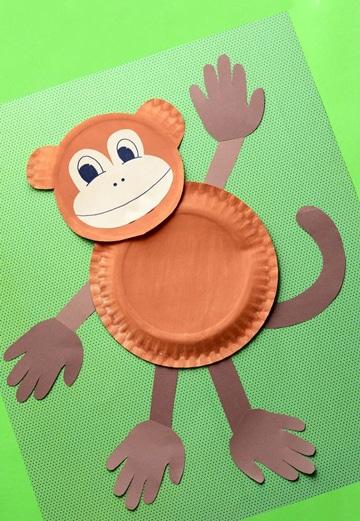 manualidades con platos de carton para niños