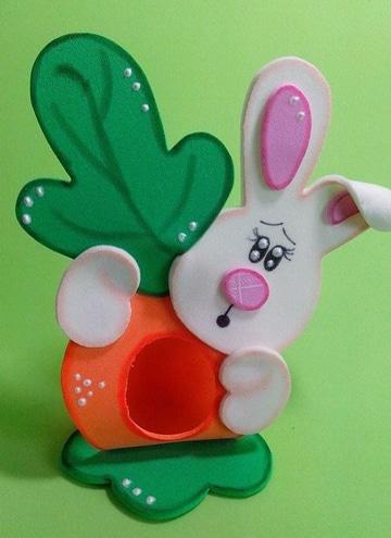 moldes de animales en foami para niños decorados