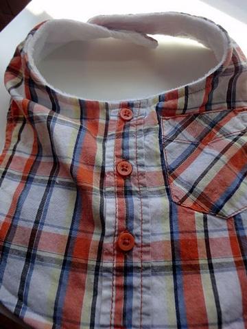 reciclar camisas de hombre viejas para bebes