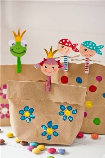 regalos para el dia del niño manualidades con bolsas