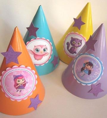 sombreros decorados para niños de fiesta