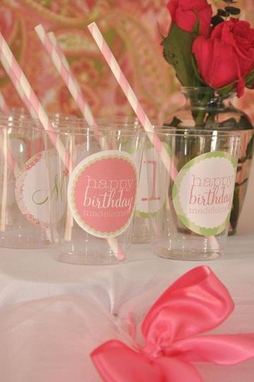vasos desechables decorados para cumpleaños