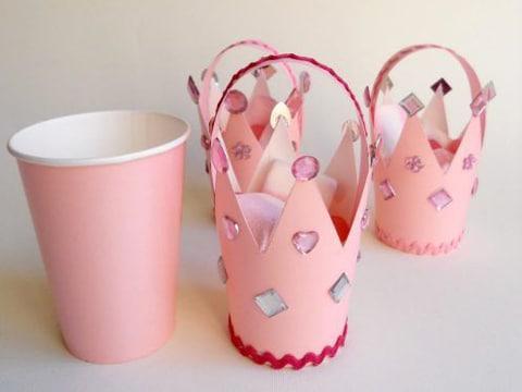 vasos desechables decorados para niñas