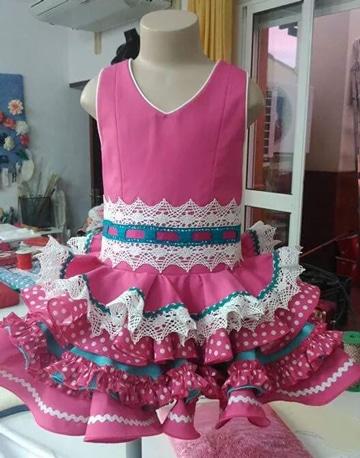 vestidos faciles de hacer en casa estilo flamenco