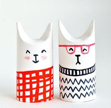 animales con tubos de papel higienico escolares