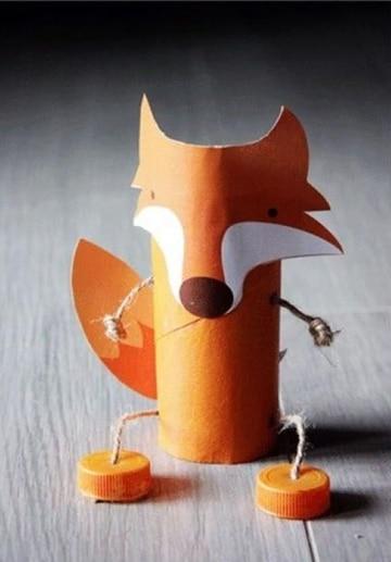 animales con tubos de papel higienico para niños