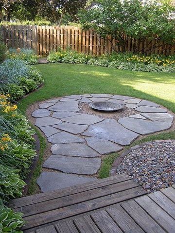 caminos de piedra para jardin irregulares