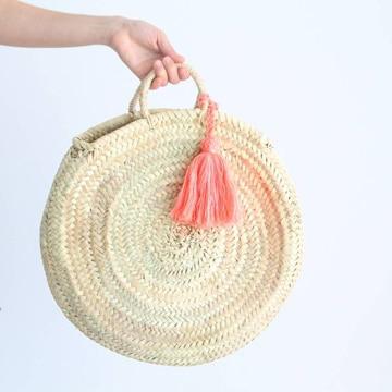 como hacer bolsas de rafia circulares