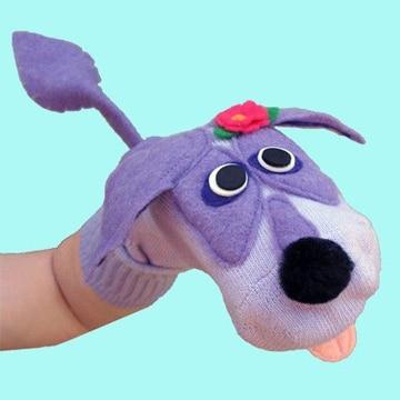 como hacer marionetas con calcetines de perritos