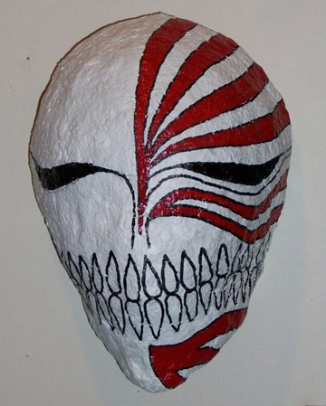 como hacer una mascara con globo y papel