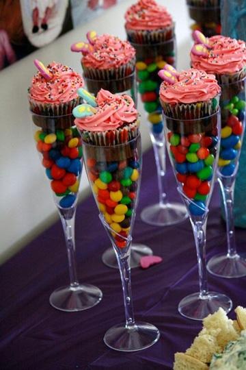 copas de plastico para fiestas con dulces