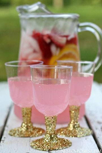 copas de plastico para fiestas decoradas