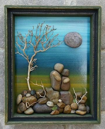 cuadros con piedras pintadas manualidades caseras