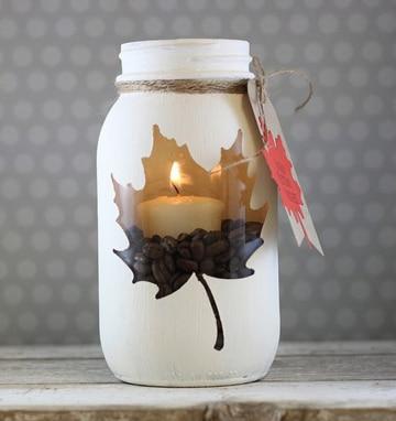 decorar botes de cristal para velas super facil