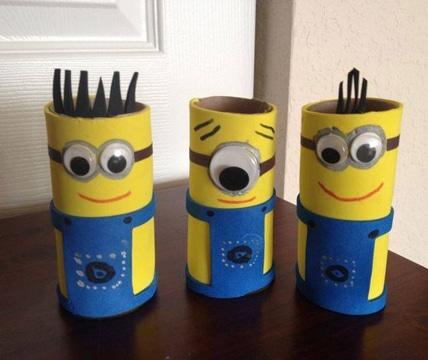 figuras con rollos de papel higienico