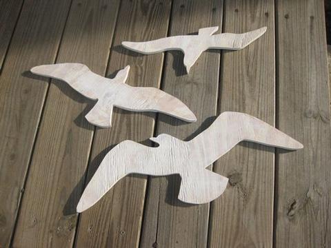 figuras de madera para manualidades de aves