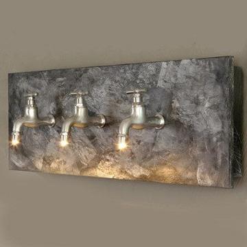 imagenes de lamparas recicladas estilo industrial