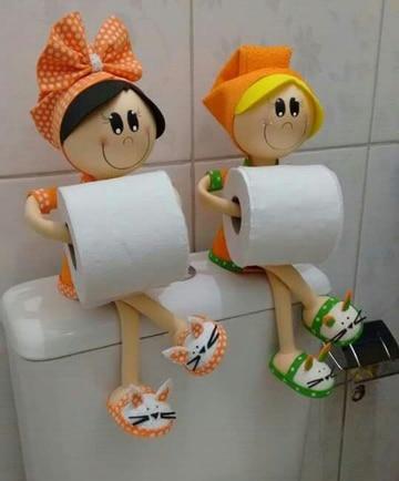 ¿Qué te parecen estas manualidades porta papel higienico?