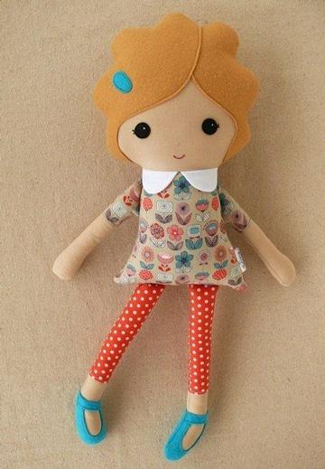 modelos de muñecas de trapo para niñas