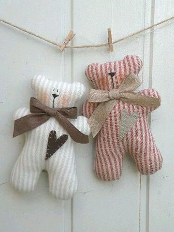 muñecos de tela para bebes osos