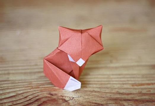 pasos para hacer un origami de animales