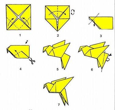 pasos para hacer un origami para imprimir
