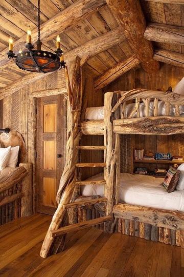 camas rusticas de troncos increibles