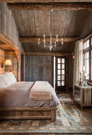 camas rusticas de troncos naturales