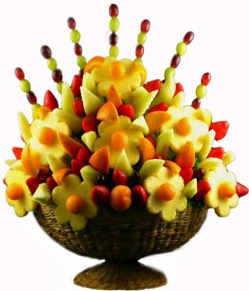 canastas de frutas decoradas comestibles
