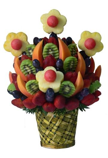 canastas de frutas decoradas para regalar