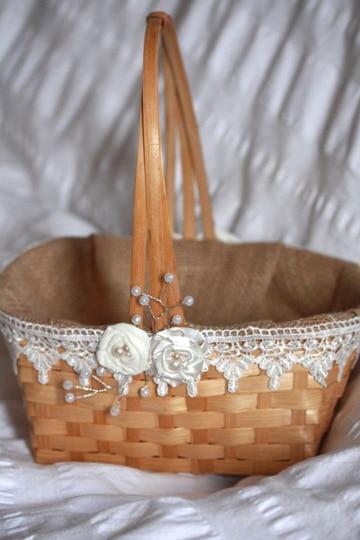 canastas decoradas para boda estilo rustico