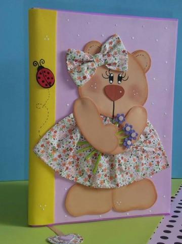 carpetas decoradas para bebes con osos