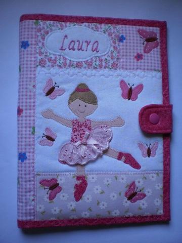 carpetas decoradas para bebes de tela