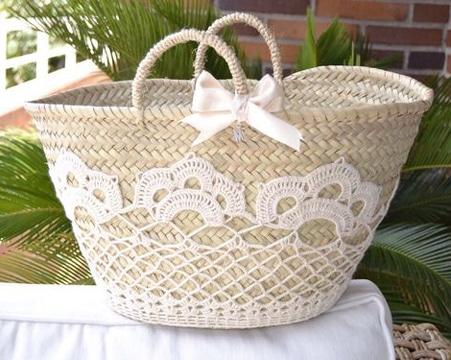 cestas de mimbre decoradas grandes