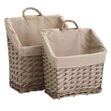 cestas de mimbre decoradas super utiles