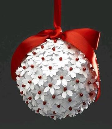 como hacer esferas navideñas tutorial