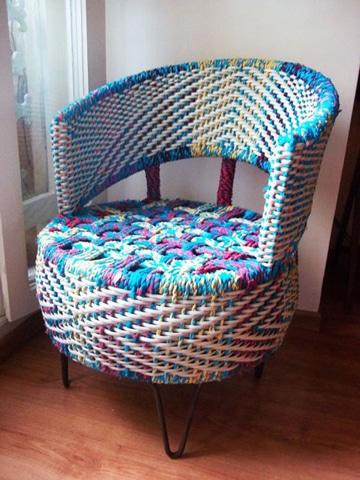 como hacer sillones con llantas recicladas