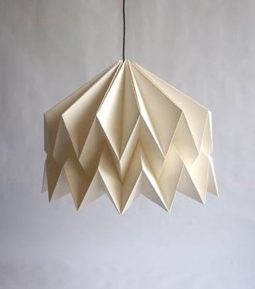 como hacer una lampara de papel colgante