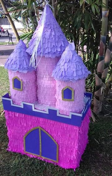 como hacer una piñata de frozen tutorial castillo