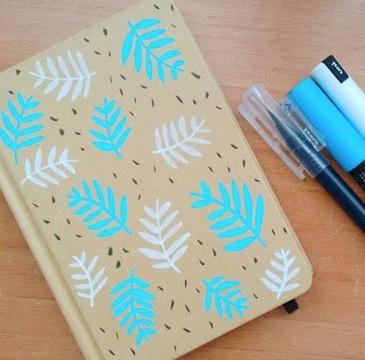 diseños para forrar cuadernos con marcadores