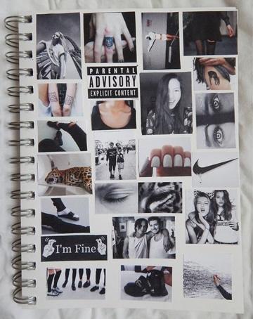 diseños para forrar cuadernos con recuerdos