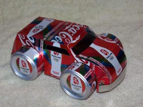 figuras con latas de aluminio para niños